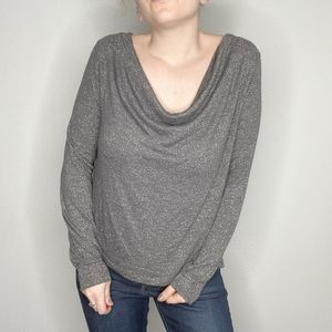 Free People | Glittery cowl neck blouse